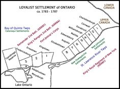 Loyalist Settlement of Ontario - United Empire Loyalists' Association of Canada Canadian History, Evernote, Sticky Notes, Ancestry, Family History, Social Studies, Genealogy, Ontario, Empire