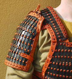 Lamellar Armor, Sca Armor, Viking Armor, Armor All, Samurai Armor, Body Armor, Samurai Costume, Viking Hood, Boxe Mma