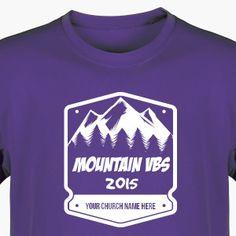 Mountain VBS Shirt for Everest VBS - Custom VBS T-Shirt Available in 40+ Shirt Colors (Available in 40+ Shirt Colors) #EverestVBS #VBSTShirt #VBS