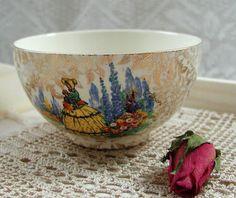 Vintage Empire Ware Crinoline Lady  Sugar Basin by VerasTreasures, £12.00