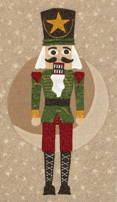 Block 1, Classic Nutcracker Quilt by Sue Garman as seen at Quilt Inspiration