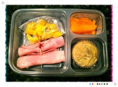 Ham & Cheese with Mango and Other School Lunch Ideas & Photos from 100 Days of Real Food #schoollunch #backtoschool #realfood