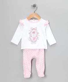 Take a look at this Pink Kitty Tee & Footie Pants - Infant by Absorba on #zulily today!