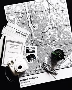 Map Poster Of Minneapolis Us Print Size 50 X 70 Cm Custom Black