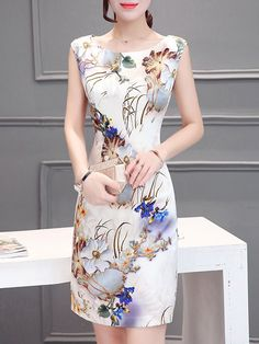 Product Name:Fashion Round NeckFloral Printed Bodycon DressHow To Wash:ColdHand WashSupplementary Matters:All Dimensions Are Measured Manually With A Deviation Of 2 To Included:Dress / Cheap Dresses, Elegant Dresses, Sexy Dresses, Cute Dresses, Fashion Dresses, Chinese Dress Cheongsam, Kurta Designs, Dress Silhouette, Dress Brands