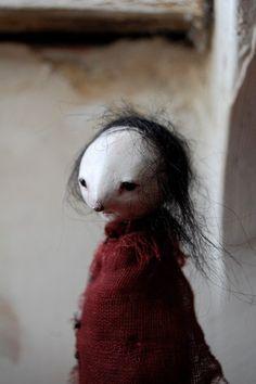 Marnie - OOAK paper clay art doll. £65.00, via Etsy.