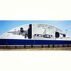New Delta Hanger Graphics at Logan International Airport in Boston.
