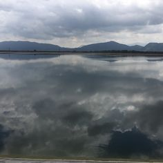 #clouds on the water #lake #dam