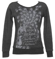 Ladies Slash Neck Raglan Sleve Jane Austen Pride And Prejudice Novel Sweater  from Out Of Print  £54.99