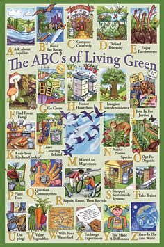"The Homestead Survival Skill Idea s- ""The ABC's of Living Green"" - All About Green Living - Homesteading Skills & Green Living Encouragement Homestead Survival, Survival Skills, Survival Guide, Green Life, Go Green, Natural Living, Das Abc, Off The Grid, Sustainable Living"