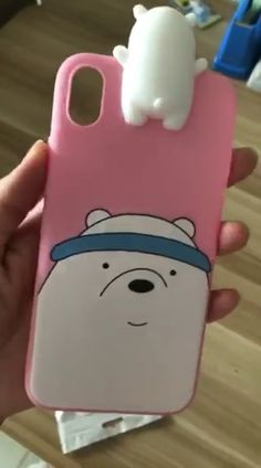 This cute phone case features the adorable brother bears from the hit show, We Bare Bears. Bling Phone Cases, Cute Phone Cases, Kpop Wallpaper, Iphone Wallpaper, Iphone 5, Iphone Cases, Kawaii Phone Case, We Bear, Your Spirit Animal