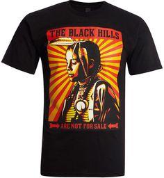 the black hills tee shirt | Obey T-shirt The Black Hills Are Not For Sale / Noir | E-shop Citadium