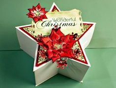 Star Gift Box Tutorial - Splitcoaststampers  what about red white and blue for the 4th?