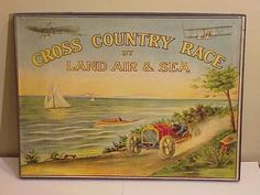 c.1911 Scarce Game CROSS COUNTRY RACE by Land Air & Sea (08/16/2010)
