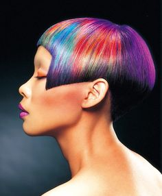 This is hair color art beyond compare. Style and color by Taiwan super-stylist Dean Lo. #Colorzoom14 Dean, we bow to your skills! #HotOnBeauty www.hotonbeauty.com