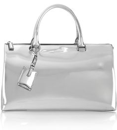 Jil Sander Mirrored-Leather Tote: Through the Looking Glass