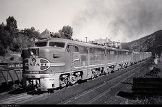 ATSF #58 (ALCo PA) leads The Chief westbound through Morley, CO on July 26, 1948. Photo by Bruce Wilson.