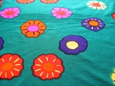 Marimekko-Finland-Vintage-Tablecloth-Fabric-Nekku-1973-Katsuji-Wakisaka