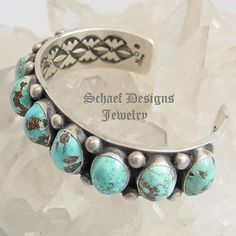Nelvin Burbank Persian Turquoise Row Stacking Bracelet | Schaef Designs | New Mexico