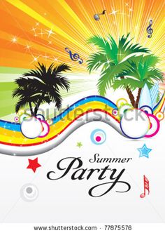 Abstract Summer Party Theme Vector Illustration - 77875576 : Shutterstock
