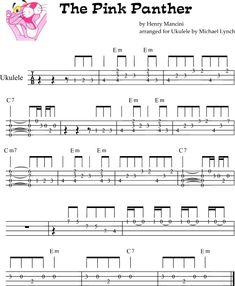 Pink Panther Theme Ukulele Fingerpicking Pattern