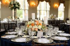 Beautiful Tablescape in the Crystal Ballroom. Photo by Samantha Melanson