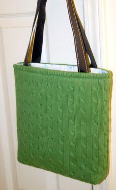 Another wonderful sweater bag fom Photosarah crafts.
