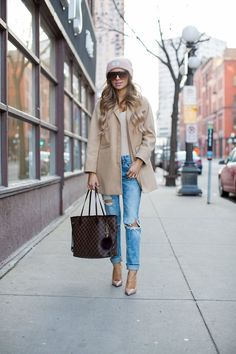 Topshop Camel Coat (wearing a size 0 petite) // Urban Outfitters Blush Bodysuit // BlankNYC Jeans via Nordstrom (wearing a size 24) // Urban Outfitters Blush Beanie // Nasty Gal Square Sunglasses // Christian Louboutin 'So Kate' Pumps // Louis Vuitton Neverfull MM Bag It's no secret that I love this camel coat (last seen here and …