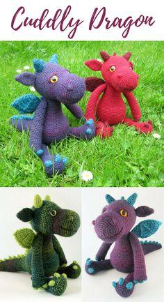 Amigurumi Cuddly Dragon Crochet Pattern Printable PDF #ad #amigurumi #amigurumidoll #amigurumipattern #amigurumitoy #amigurumiaddict #crochet #crocheting #crochetpattern #pattern #patternsforcrochet #printable #instantdownload #pdf #dragon