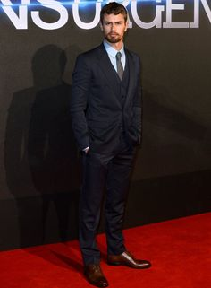 Theo James wearing Dolce&Gabbana at the Insurgent premier in London.