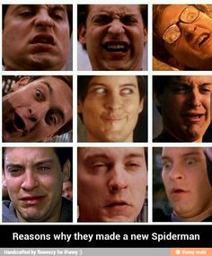 Reasons they made a new spider man  LAUGHING MY  BUTT OFF!!!!!!