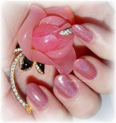 Roseate: Custom Strong Linear Holographic Rose Pink by PrettyJelly #nailpolish #Indienailpolish #holographic #etsy #handmade #holonails