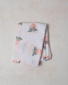 Cotton Swaddle - Watercolor Rose