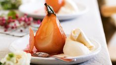 Looking for a sweet treat? This recipe for pears in rose syrup are sure to tantalise your guest's tastebuds while looking delightful on the dining table.