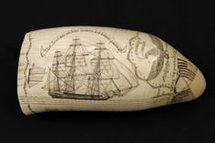 The American Museum in Britain » The Susan of Nantucket Scrimshaw