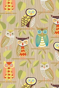 Owls My sister made me the letter J with this owl paper! Owl Wallpaper, Iphone Wallpaper, Owl Fabric, Owl Always Love You, Owl Crafts, Wise Owl, Owl Art, Illustrations, Cute Illustration