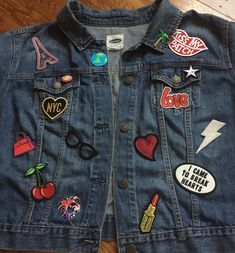 Image result for patches on denim jackets