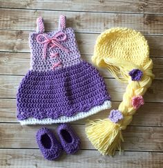 Princesa Rapunzel inspirado traje / del por mamamegsyarnshoppe