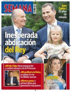Abdicação do Rei nas capas de jornais e revistas espanholas e portuguesas, com destaque para Felipe e Letizia - Blog_Real - O Blog das Monarquias
