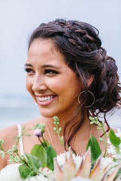 Braids, relaxed updo, boho bride, wedding hair ideas // Absolutely Loved