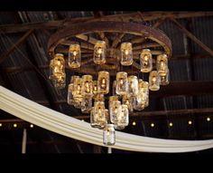 tiny+house+wheel+and+jar+chandelier | Mason Jar chandelier @Dawn Cameron-Hollyer Larew