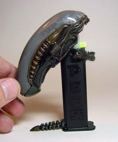 Alien Pez dispenser! Need one of these for the office.