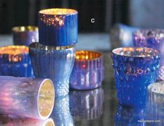 Roost Shimmering Mercury Tealight Holders S/12 *Next Day Shipping* – Modish Store