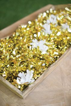 gold tossing poms! | Harwell Photography #wedding