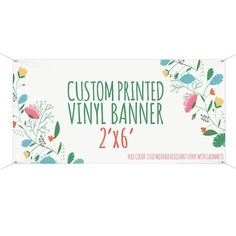 Printed Party Banner- Custom Printed with your Design for your event Make Your Own Banner, Latex Allergy, Custom Vinyl Banners, Shower Banners, Outdoor Banners, Pop Up Shops, Graphic Design Services, Banner Printing, Banner Design