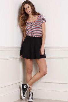 Circle pleated skirt
