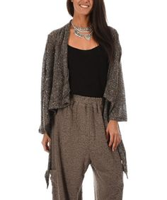 Love this Gray Hi-Low Open Cardigan on #zulily! #zulilyfinds