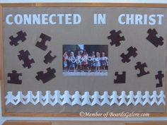 connected in Christ--This would be a good idea in our Kid Connection center.  Maybe with gears?