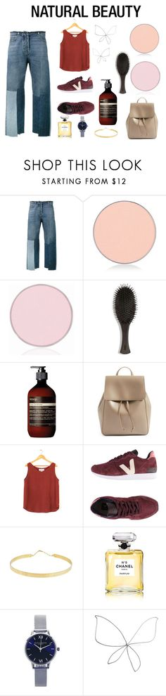 """Modern Minimalist"" by nicoleank ❤ liked on Polyvore featuring beauty, Valentino, Anastasia Beverly Hills, Oribe, Aesop, Sole Society, Veja, Lana Jewelry, Chanel and Olivia Burton"