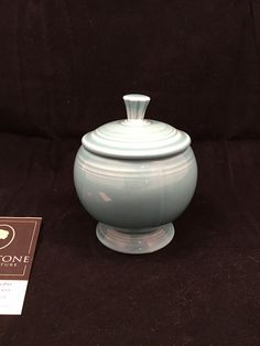 Greystone Fine Furniture - Retro Aqua Fiesta ware round covered candy bowl $20